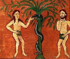 rod of asclepius and adam and eve